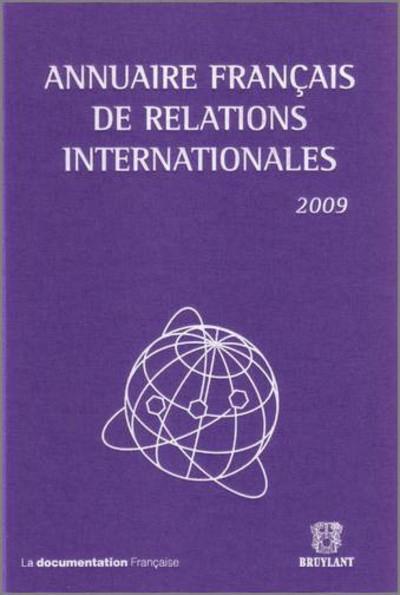 ANNUAIRE FRANCAIS DE RELATIONS INTERNATI