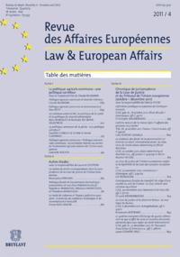 R. DES AFFAIRES EUROPEENNES 2011/4