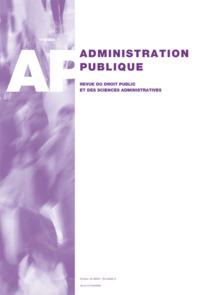 ADMINISTRATION PUBLIQUE 2014/1