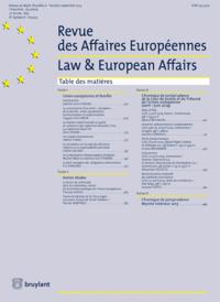 R. DES AFFAIRES EUROPEENNES 2015/2