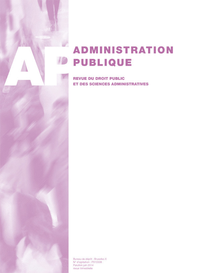 ADMINISTRATION PUBLIQUE 2014/3