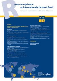 REVUE EUROPEENNE  ET INTERNATIONALE DE DROIT FISCAL 2015/4
