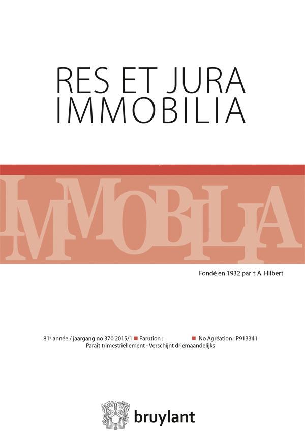 RES ET JURA IMMOBILIA 2015/4