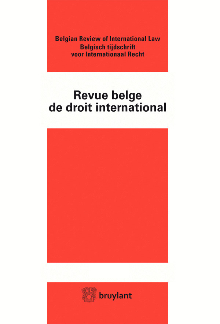 REV. BELGE DROIT INTERNATIONAL 2014/2