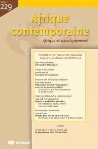 AFRIQUE CONTEMPORAINE 2009/1 N.229 POPULATION ET RESSOURCES NATURELLES