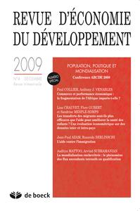 REVUE D'ECONOMIE DU DEVELOPPEMENT 2009/4