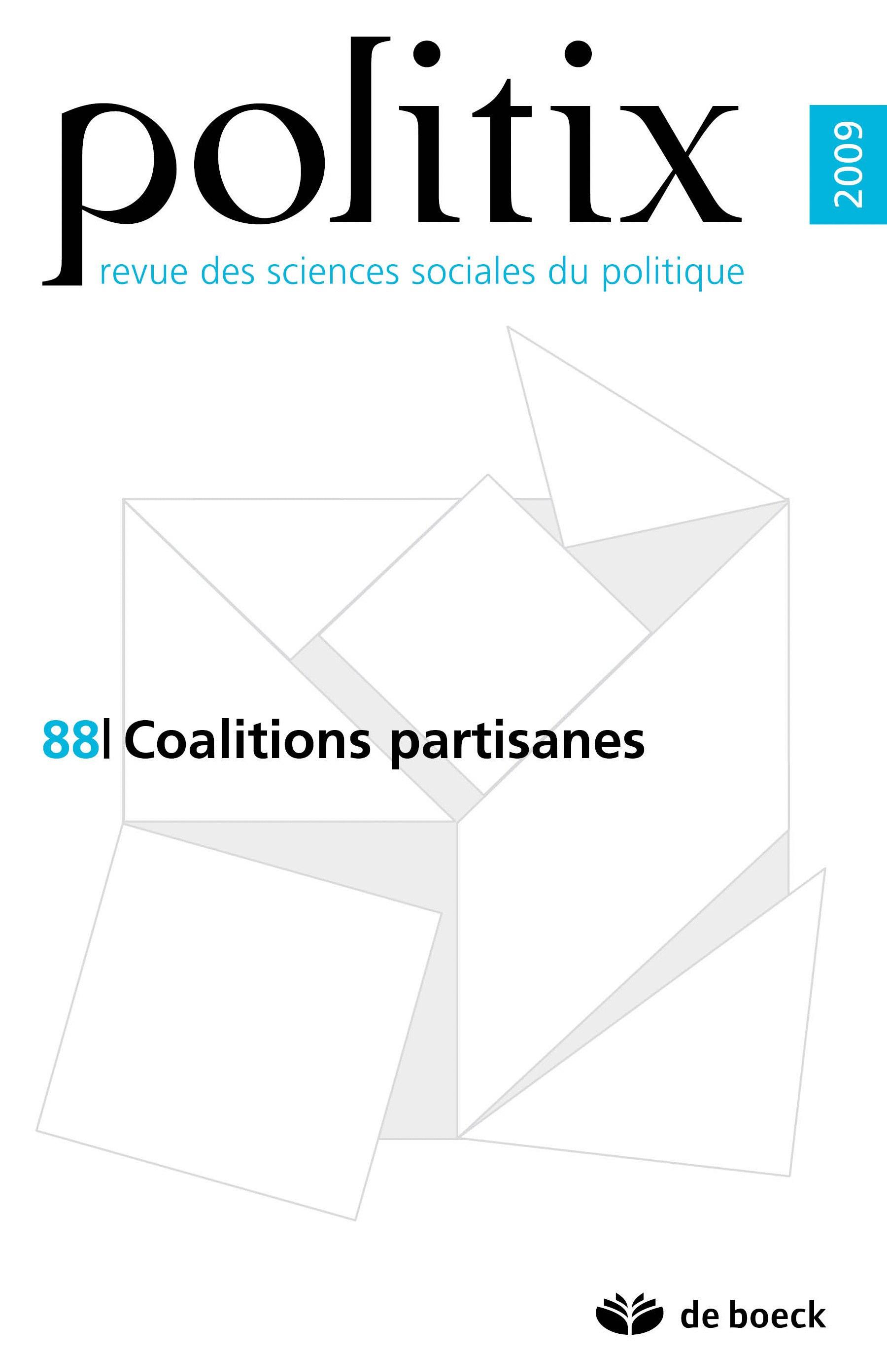 POLITIX 2009/4 N.88 COALITIONS PARTISANES