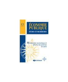 MODELISATION ECONOMIQUE ET REFORME DES SYSTEMES DE SANTE - ECONOMIE PUBL.01/3