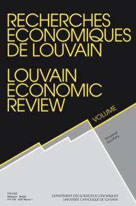 RECHERCHES ECONOMIQUES DE LOUVAIN 2004/2 VOLUME 70