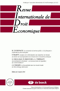 REVUE INTERNATIONALE DE DROIT ECONOMIQUE 2004/4