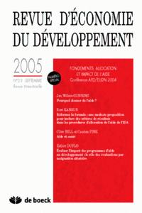REVUE D'ECONOMIE DU DEVELOPPEMENT 2005/2-3