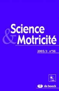 SCIENCE ET MOTRICITE 2005/3 N.56