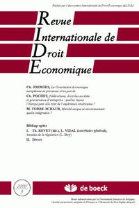 REVUE INTERNATIONALE DE DROIT ECONOMIQUE 2006/3