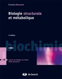 BIOCHIMIE STRUCTURALE ET METABOLIQUE