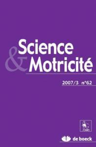 SCIENCE ET MOTRICITE 2007/3 N.62