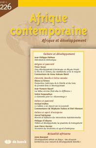 AFRIQUE CONTEMPORAINE 2008/2 N.226
