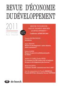 REVUE D'ECONOMIE DU DEVELOPPEMENT 2011/2-3