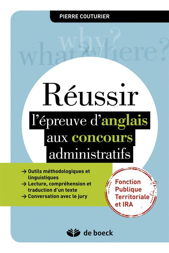 REUSSIR L'EPREUVE D'ANGLAIS AUX CONCOURS ADMINISTRATIFS