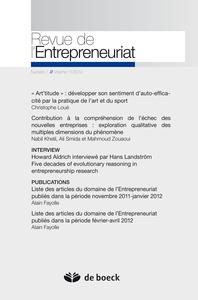 REVUE DE L'ENTREPRENEURIAT 2012/1 VOLUME 11