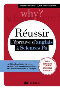 REUSSIR L'EPREUVE D'ANGLAIS A SCIENCES PO