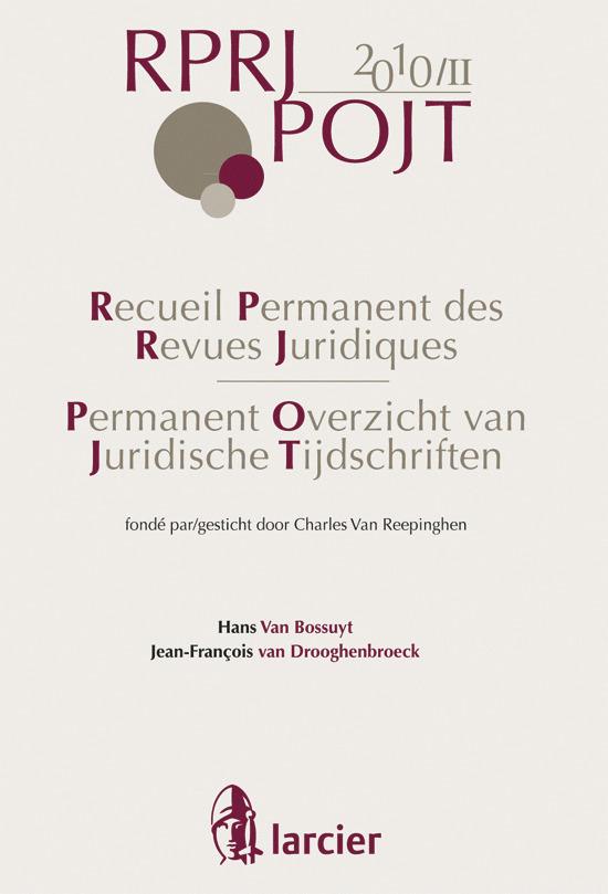 RECUEIL PERMANENT REVUES JURIDIQUES 2010/2 JURISPRUDENCE 2010