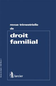 REVUE DE DROIT FAMILIAL 2011/2