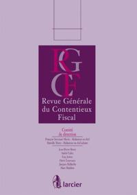 REVUE GENERALE DU CONTENTIEUX FIS. 11/3
