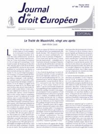 J.T. DROIT EUROPEEN 2012/2