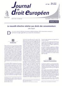 J.T. DROIT EUROPEEN 2012/3