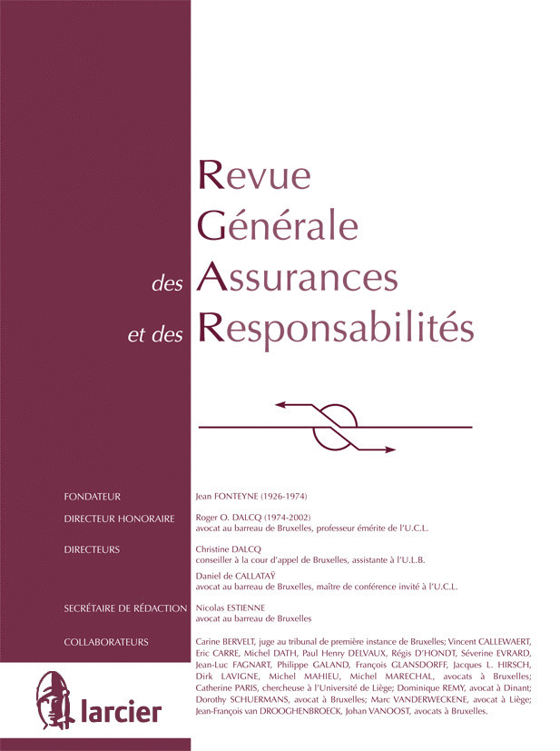 REVUE GEN.ASSURANCES ET RESPONS 2012/8