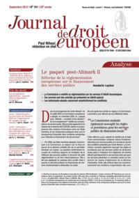 J.T. DROIT EUROPEEN 2013/8