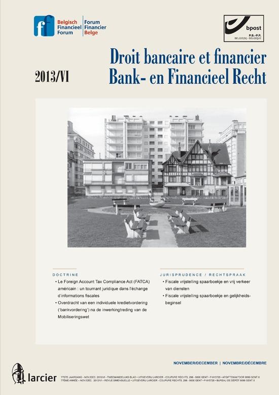 DROIT BANCAIRE...FINANCIEEL RECHT 13/6