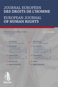 JOURNAL EU. DR. DE L'HOMME 2013/4
