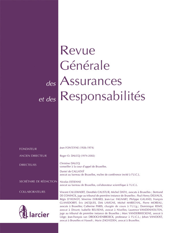 REVUE GEN.ASSURANCES ET RESPONS 2015/10