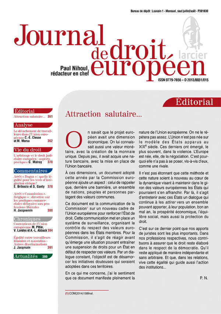 JOURNAL DE DROIT EUROPEEN 2015/4