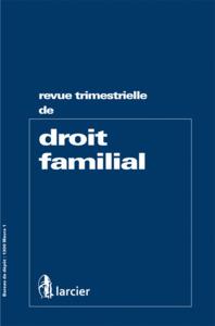 REVUE DE DROIT FAMILIAL  2015/1