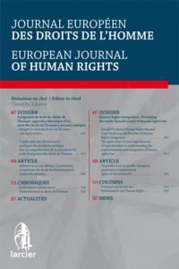 JOURNAL EU. DR. DE L'HOMME 2015/1