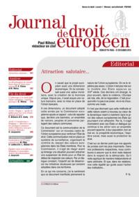 JOURNAL DE DROIT EUROPEEN 2016/6 - NR 230