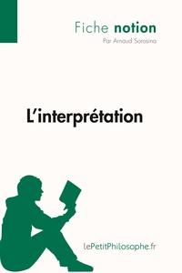 L'INTERPRETATION (FICHE NOTION)