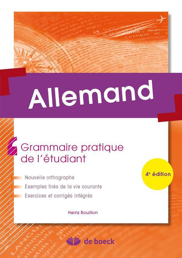 ALLEMAND GRAMMAIRE PRATIQUE DE L'ETUDIANT 4ED
