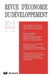ECONOMIE DU DEVELOPPEMENT 2015/2