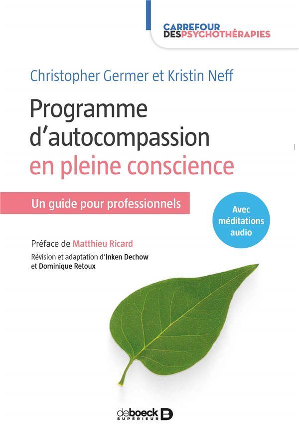 PROGRAMME D'AUTO-COMPASSION EN PLEINE CONSCIENTE