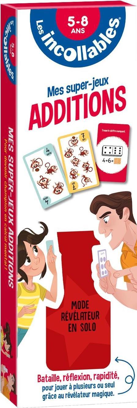 Les incollables - mes super jeux - additions - bataille, reflexion, rapidite pour jouer a plusieurs
