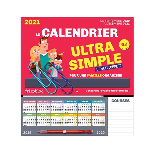Frigobloc le mini calendrier ultra simple pour une famille organisee ! de sept 2020 a dec 2021
