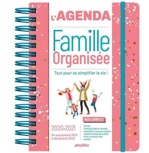 Agenda de la famille organisee 2021  (de sept. 2020 a dec. 2021)