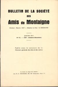 BULLETIN DE LA SOCIETE DES AMIS DE MONTAIGNE 1967 - 3, SERIE IV, N  12 - VARIA