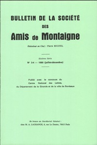 BULLETIN DE LA SOCIETE DES AMIS DE MONTAIGNE. VI, 1980-2, N  3-4 - VARIA