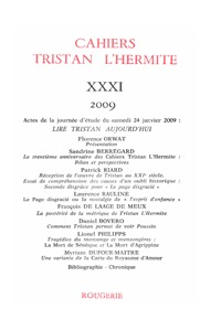 CAHIERS TRISTAN L'HERMITE 2009, N  31 - VARIA