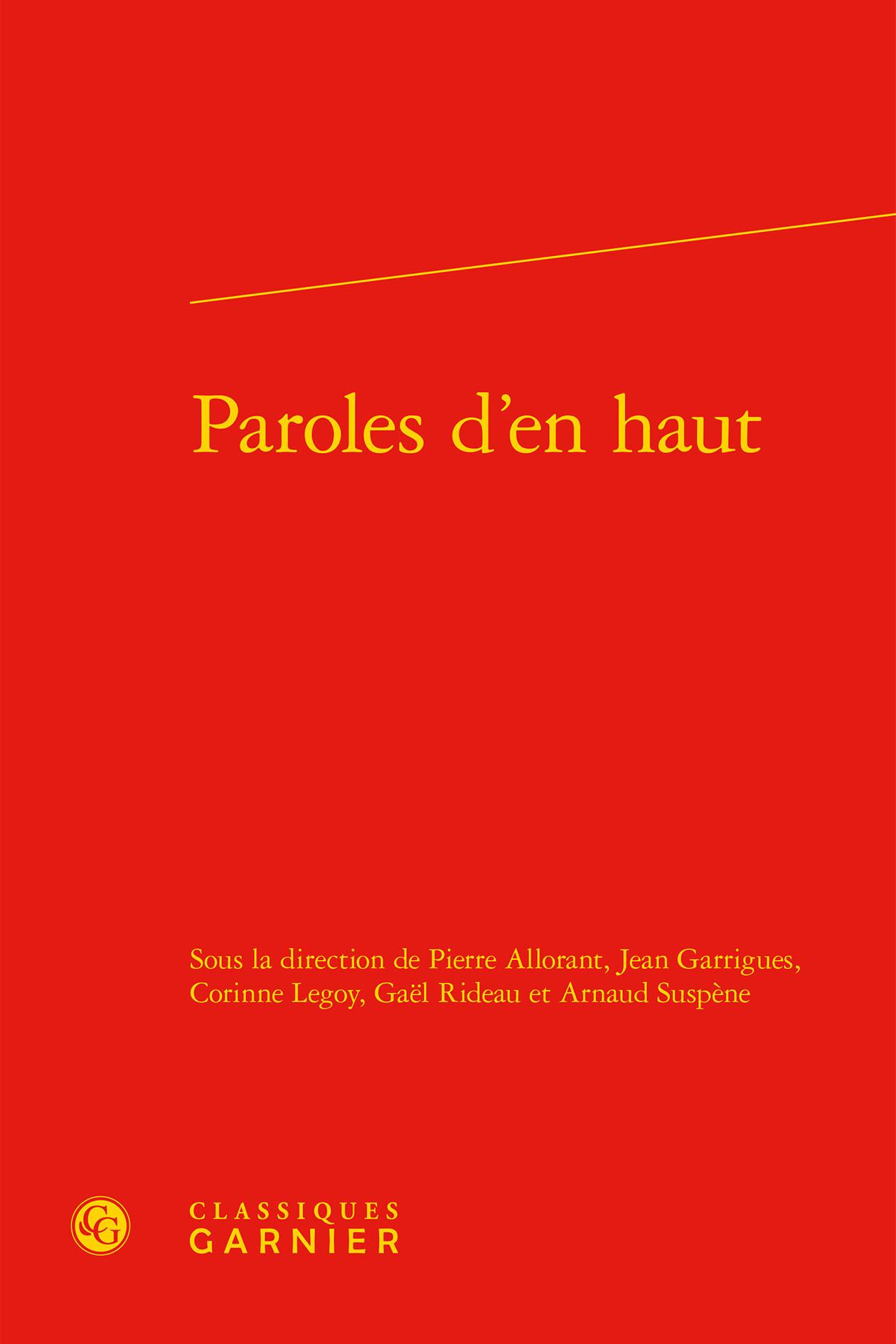 PAROLES D'EN HAUT