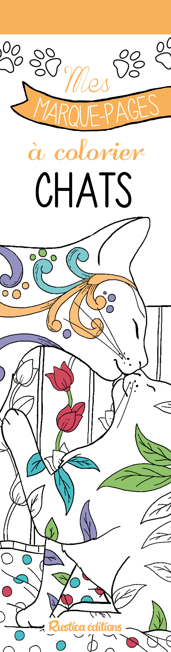 MES MARQUE-PAGES A COLORIER : CHATS